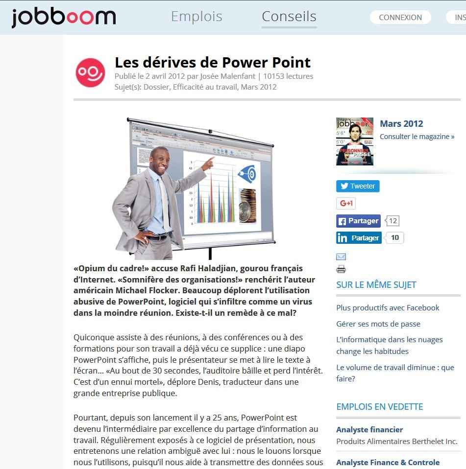 Les dérives de PowerPoint